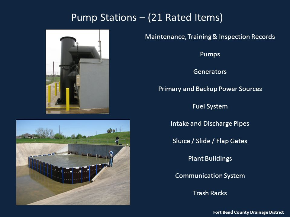Pump Stations – (21 Rated Items)