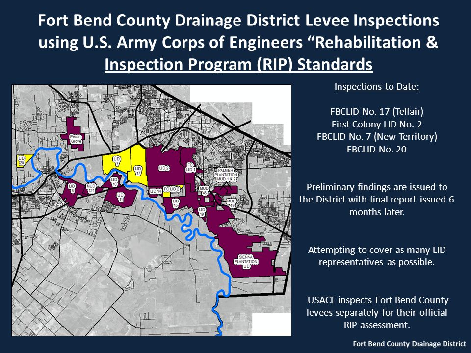 Fort Bend County Drainage District Levee Inspections