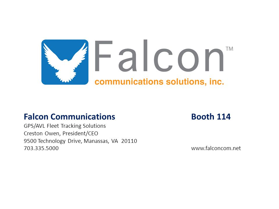 Falcon Communications Booth 114