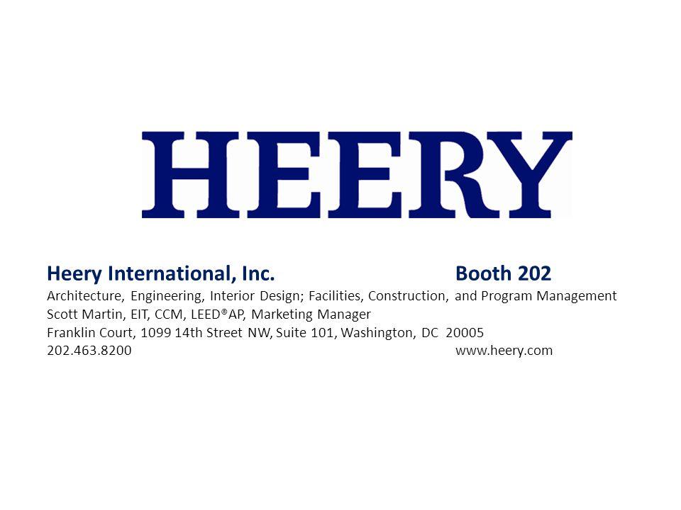 Heery International, Inc. Booth 202