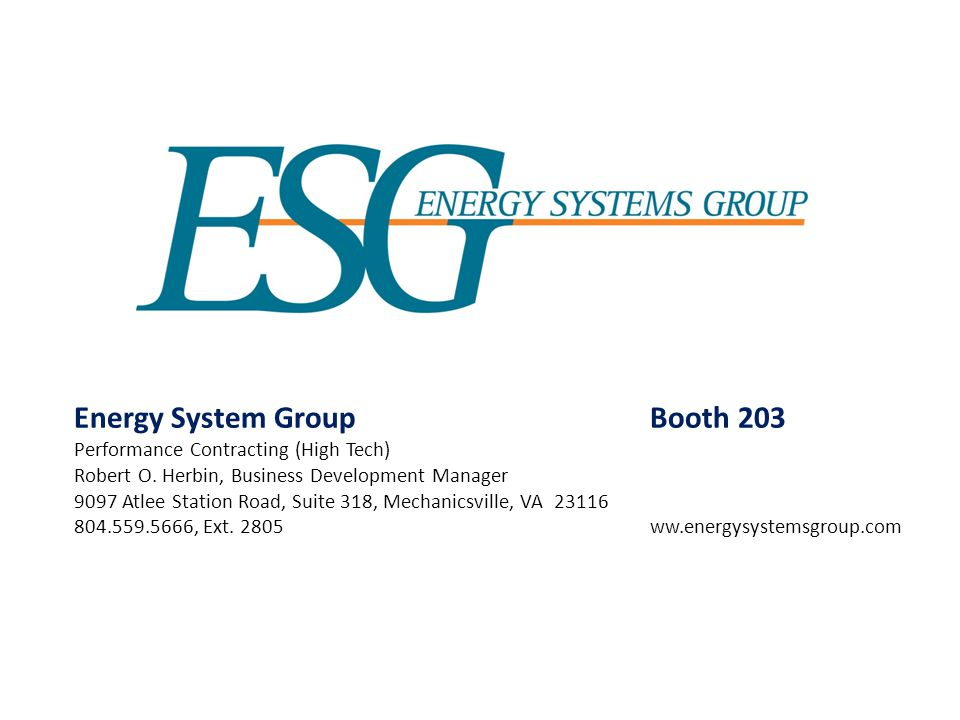 Energy System Group Booth 203