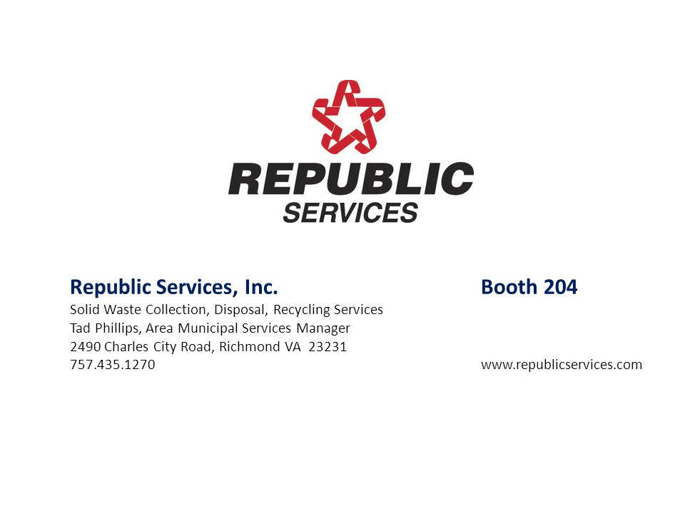 Republic Services, Inc. Booth 204