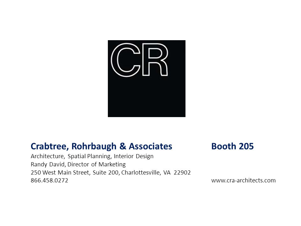 Crabtree, Rohrbaugh & Associates Booth 205