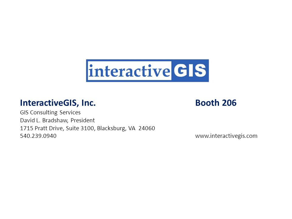 InteractiveGIS, Inc. Booth 206