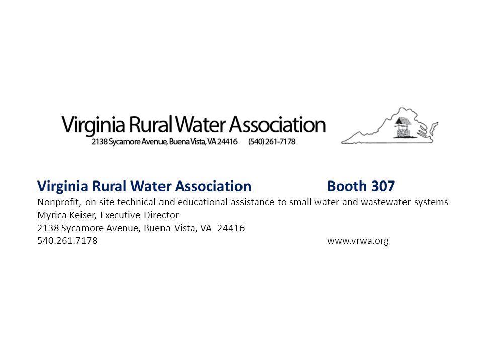 Virginia Rural Water Association Booth 307