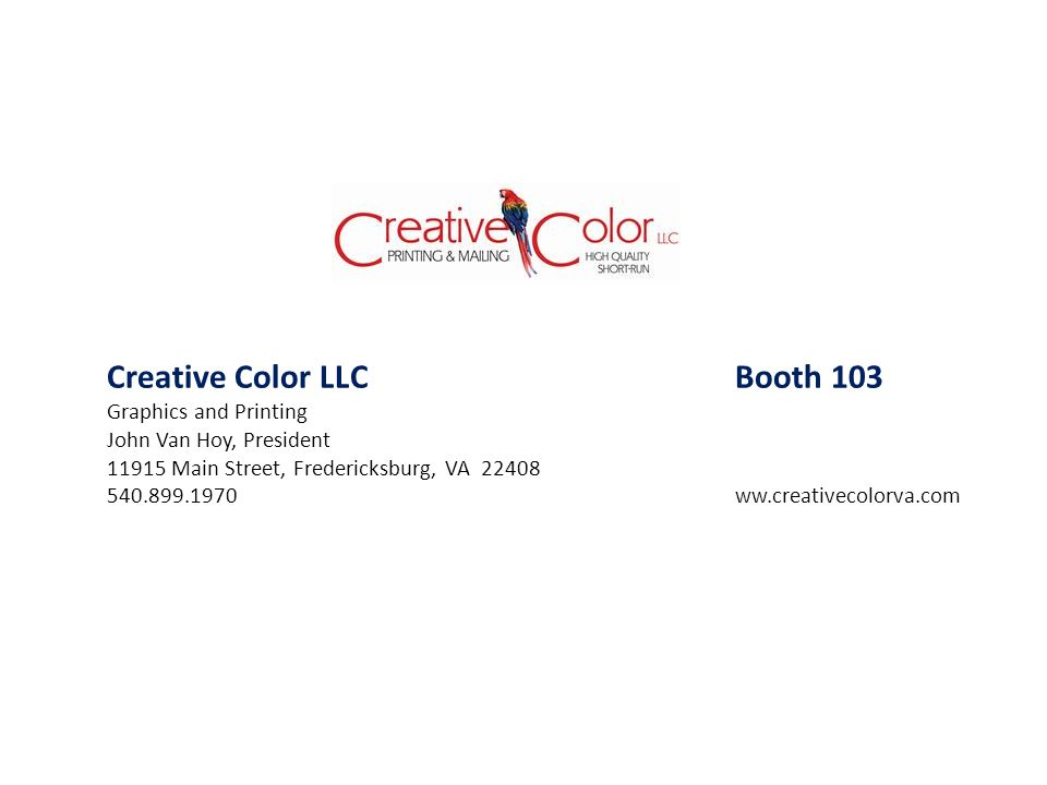Creative Color LLC Booth 103