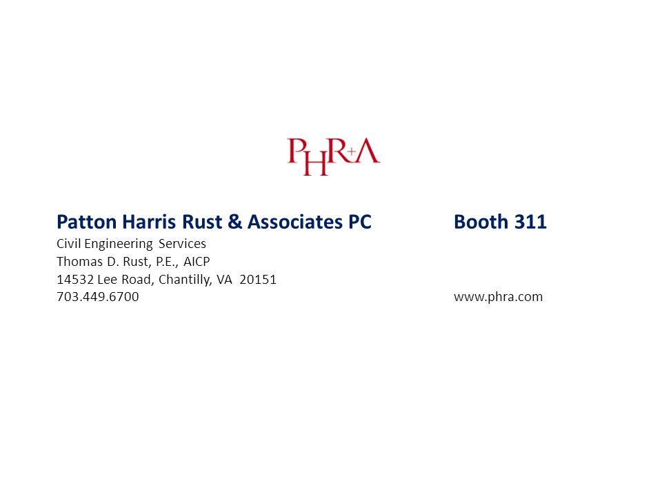 Patton Harris Rust & Associates PC Booth 311