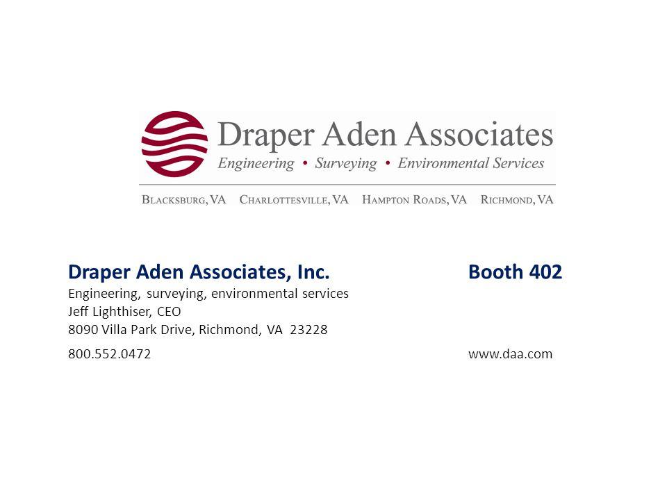 Draper Aden Associates, Inc. Booth 402