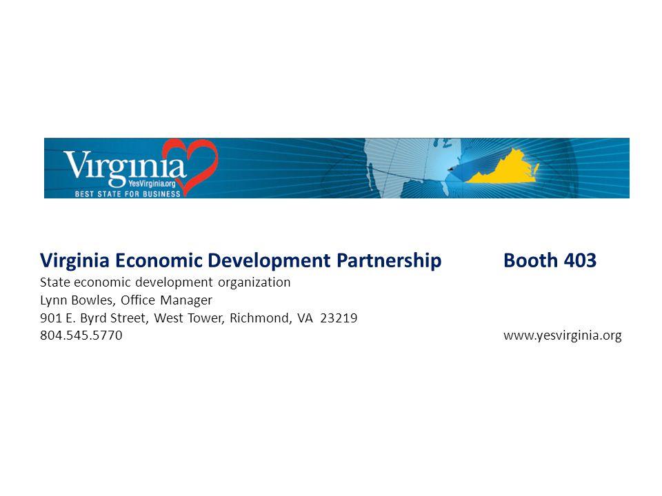 Virginia Economic Development Partnership Booth 403