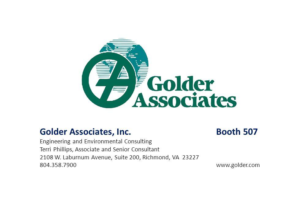 Golder Associates, Inc. Booth 507