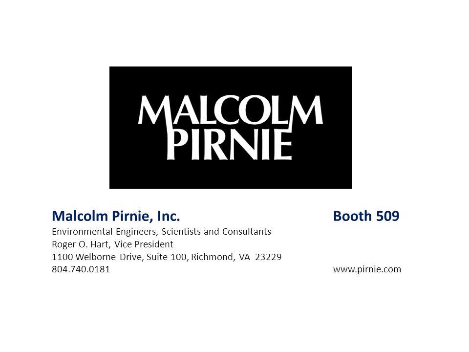 Malcolm Pirnie, Inc. Booth 509