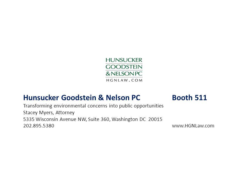 Hunsucker Goodstein & Nelson PC Booth 511