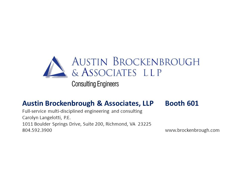 Austin Brockenbrough & Associates, LLP Booth 601