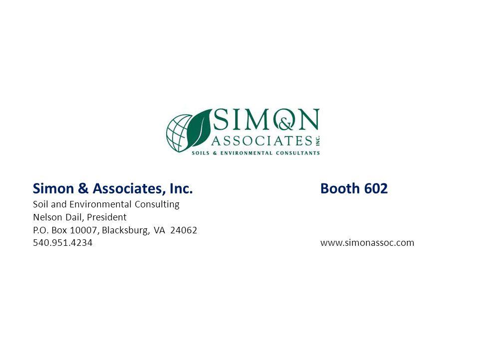 Simon & Associates, Inc. Booth 602
