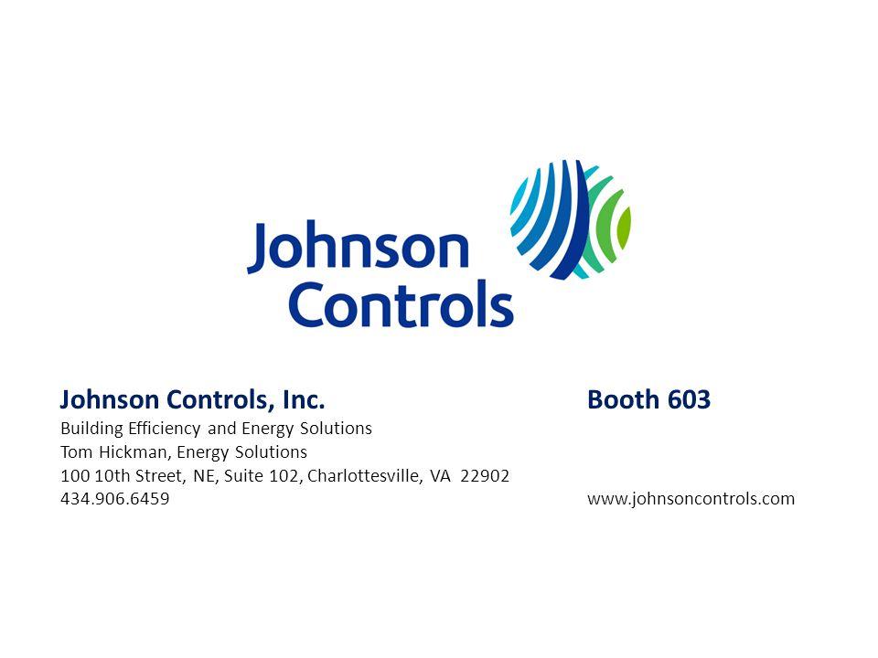 Johnson Controls, Inc. Booth 603