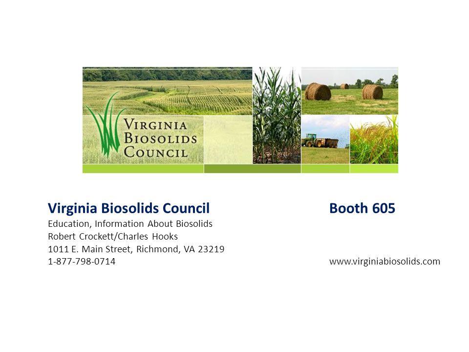 Virginia Biosolids Council Booth 605