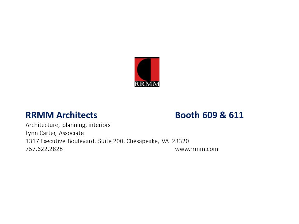 RRMM Architects Booth 609 & 611