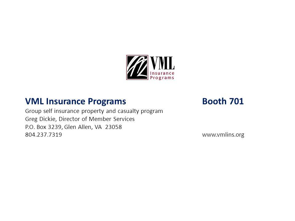 VML Insurance Programs Booth 701