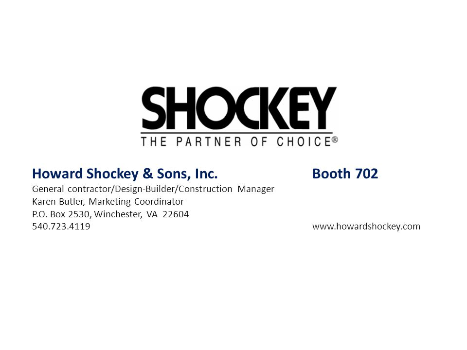 Howard Shockey & Sons, Inc. Booth 702
