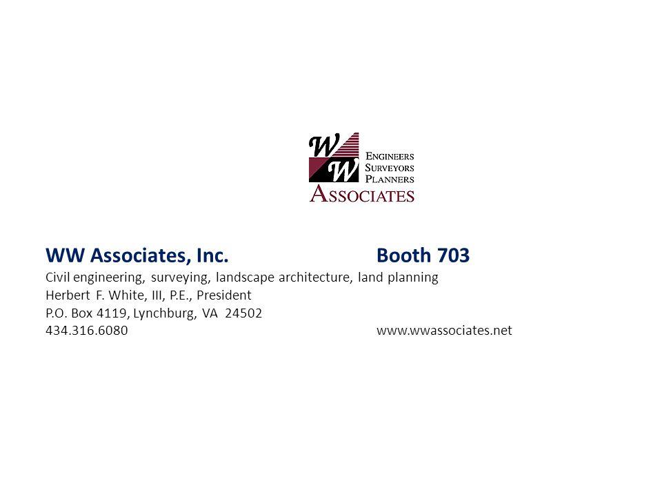 WW Associates, Inc. Booth 703
