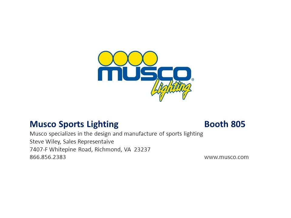 Musco Sports Lighting Booth 805
