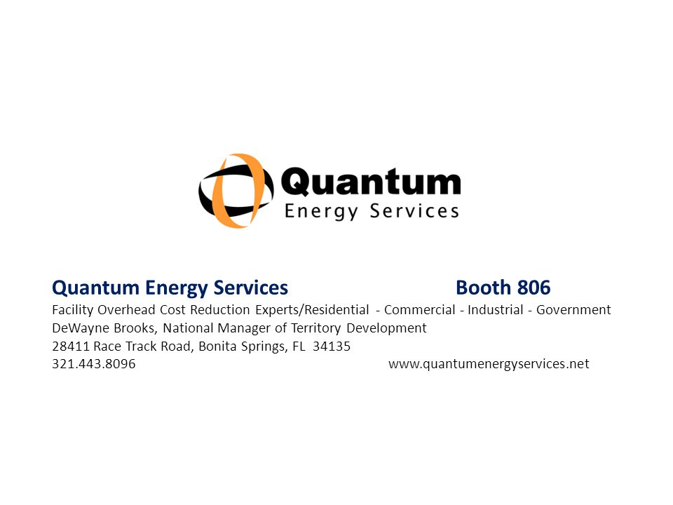 Quantum Energy Services Booth 806