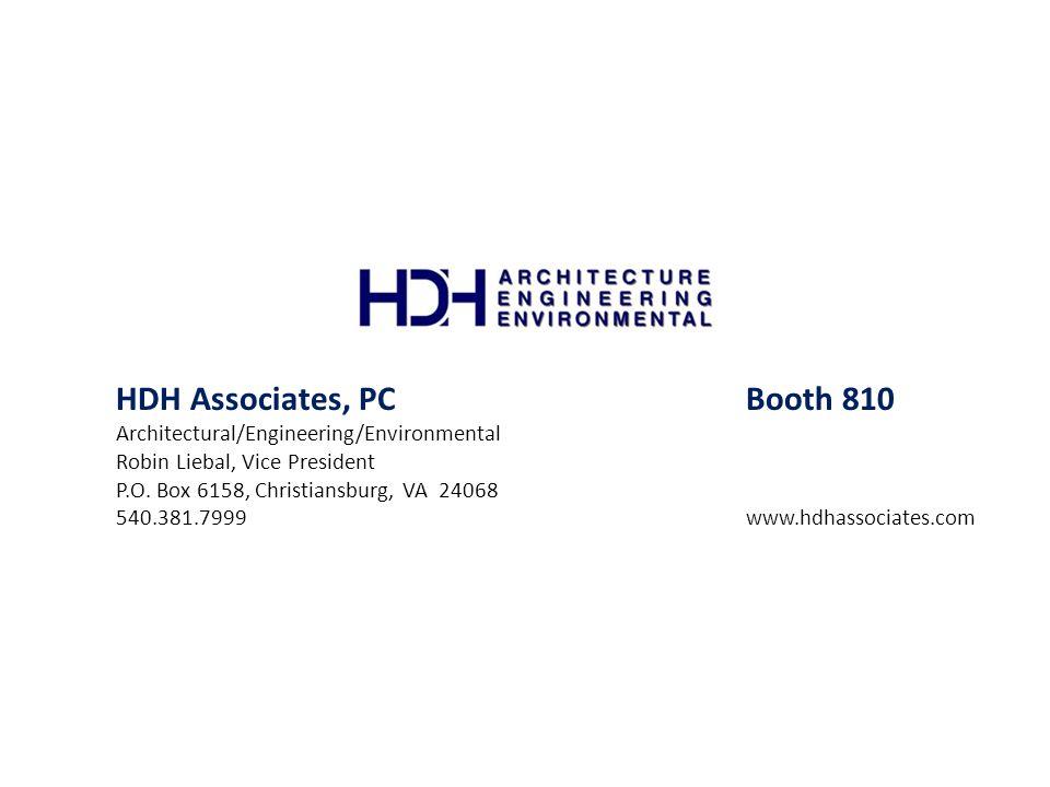 HDH Associates, PC Booth 810