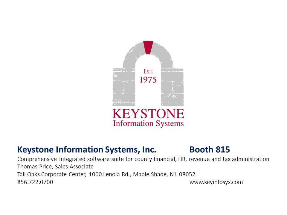 Keystone Information Systems, Inc. Booth 815