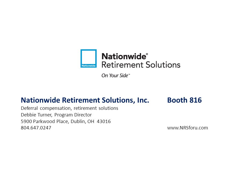 Nationwide Retirement Solutions, Inc. Booth 816