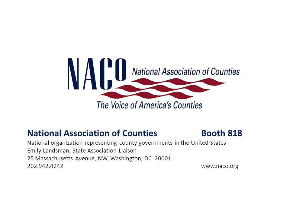 National Association of Counties Booth 818