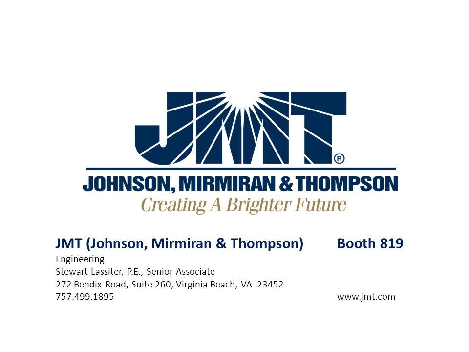 JMT (Johnson, Mirmiran & Thompson) Booth 819 Engineering