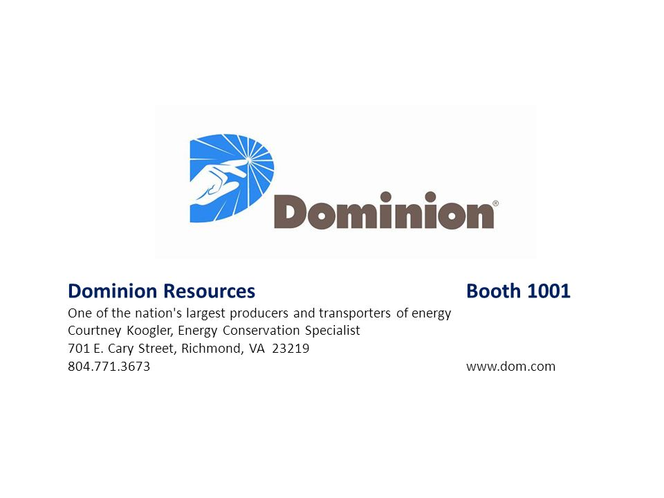 Dominion Resources Booth 1001