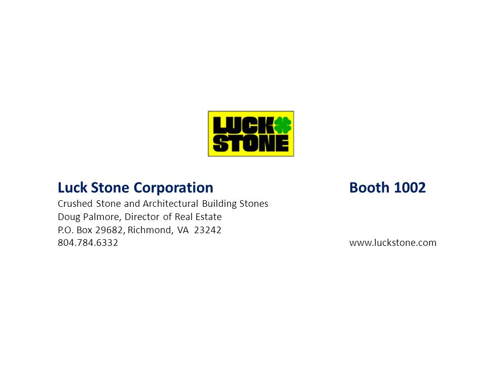 Luck Stone Corporation Booth 1002