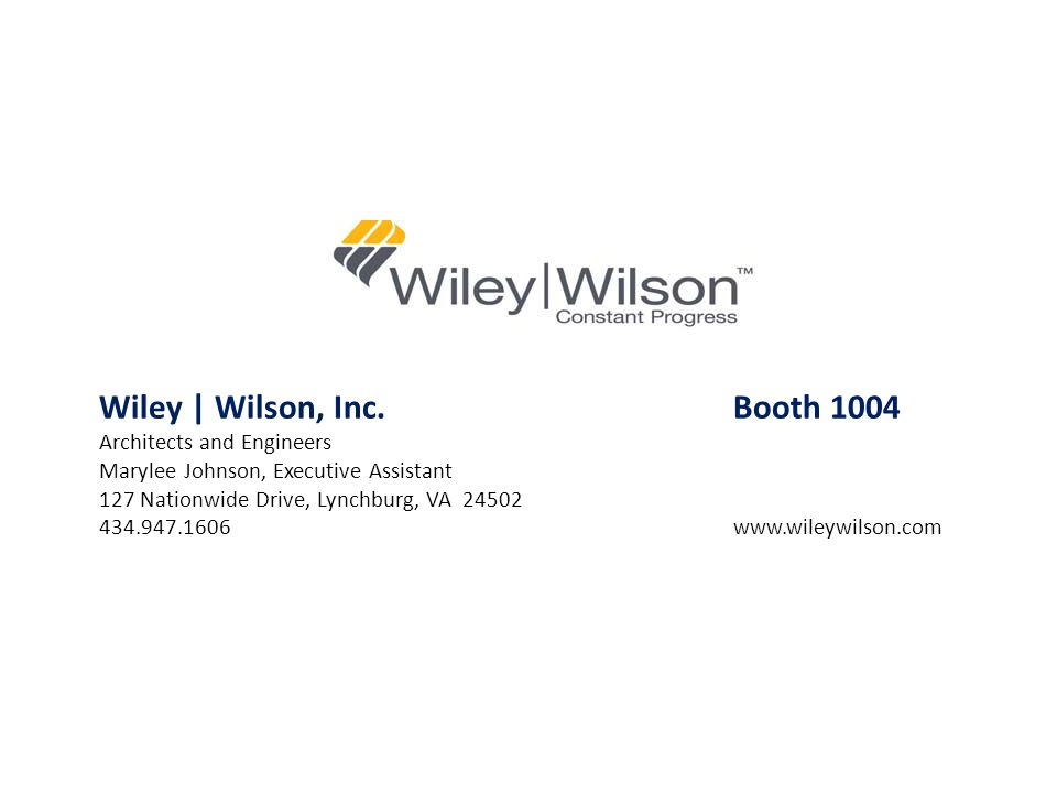 Wiley | Wilson, Inc. Booth 1004