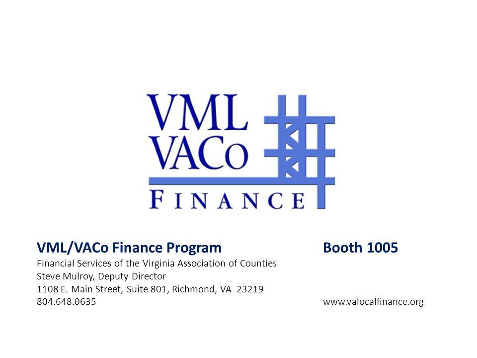 VML/VACo Finance Program Booth 1005
