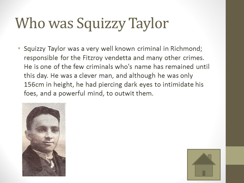 Who was Squizzy Taylor