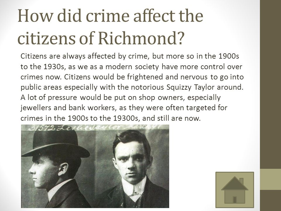 How did crime affect the citizens of Richmond