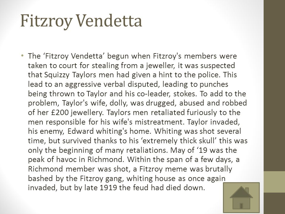 Fitzroy Vendetta