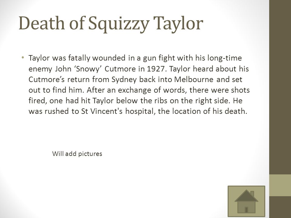 Death of Squizzy Taylor