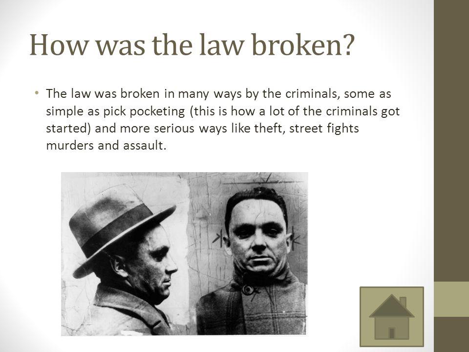 How was the law broken