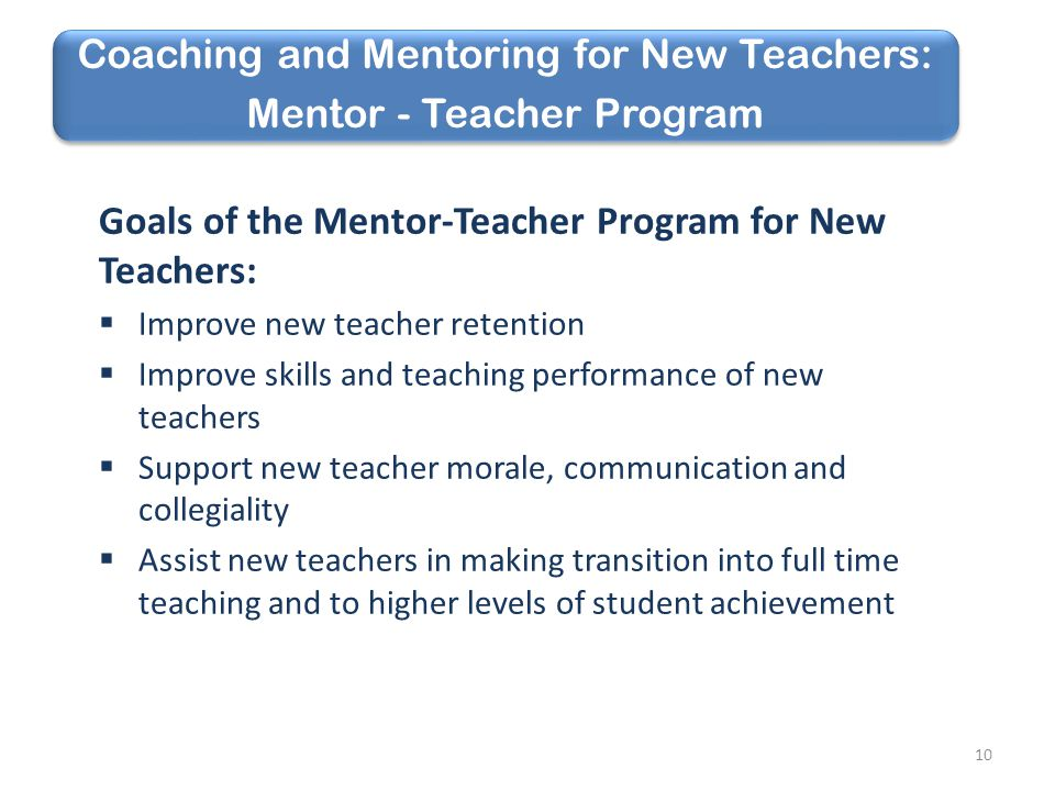 Coaching and Mentoring for New Teachers: