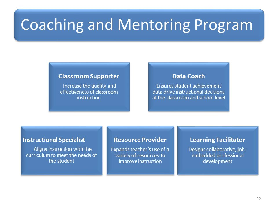 Classroom Supporter Data Coach Resource Provider Learning Facilitator
