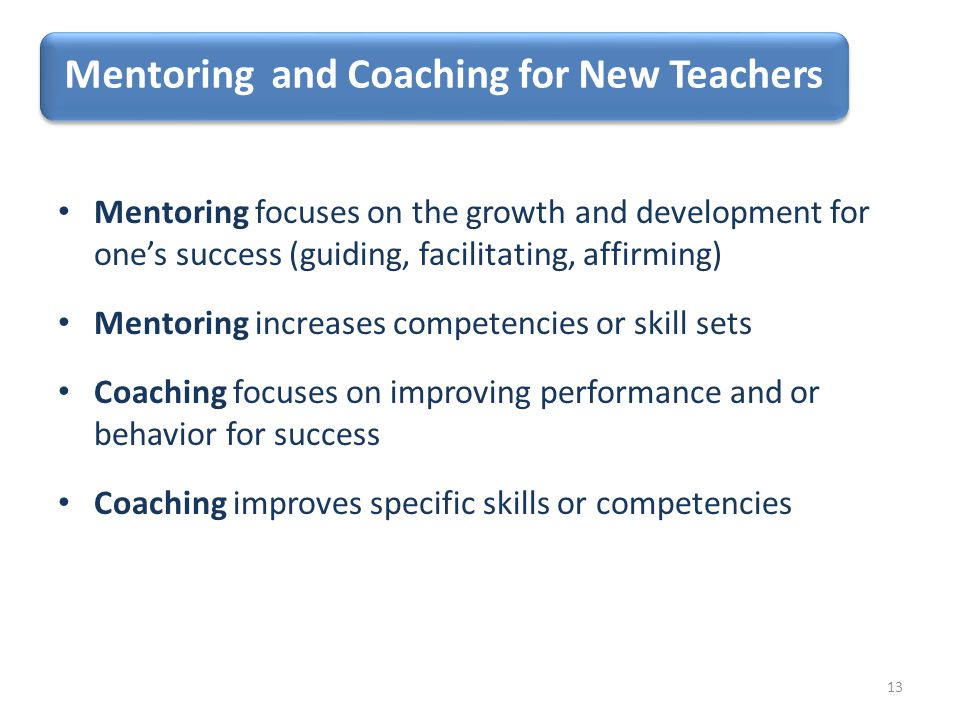 Mentoring and Coaching for New Teachers