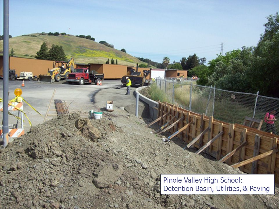 Pinole Valley High School: Detention Basin, Utilities, & Paving