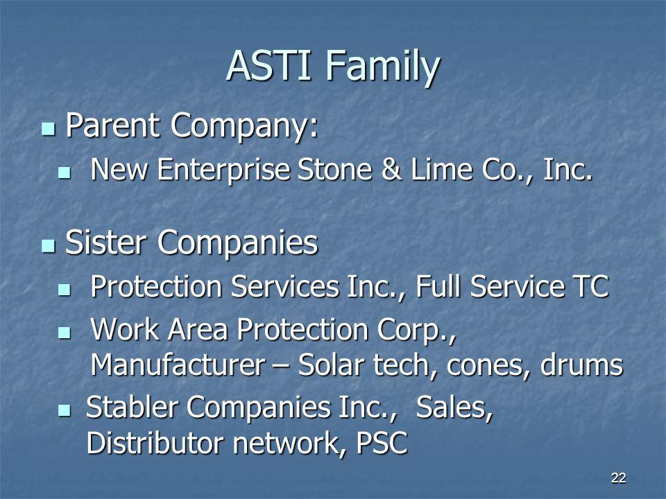 ASTI Family Parent Company: Sister Companies