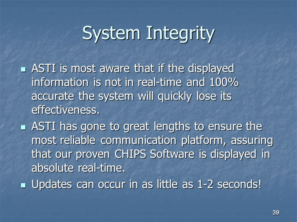 System Integrity