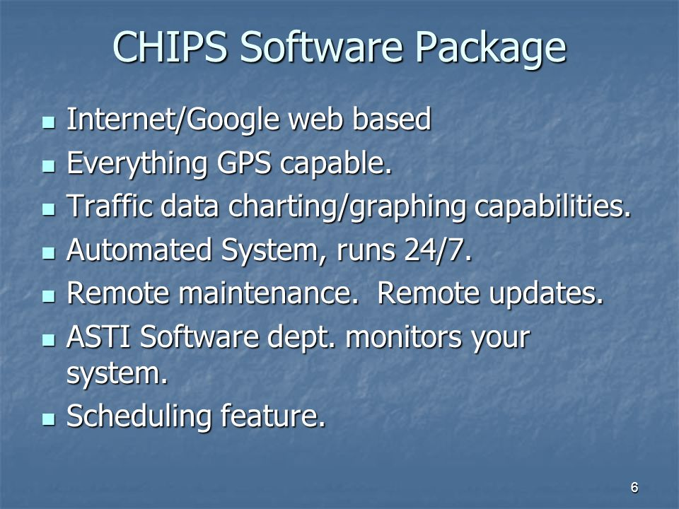 CHIPS Software Package