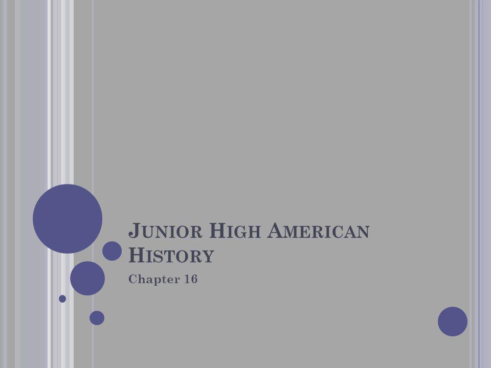 Junior High American History