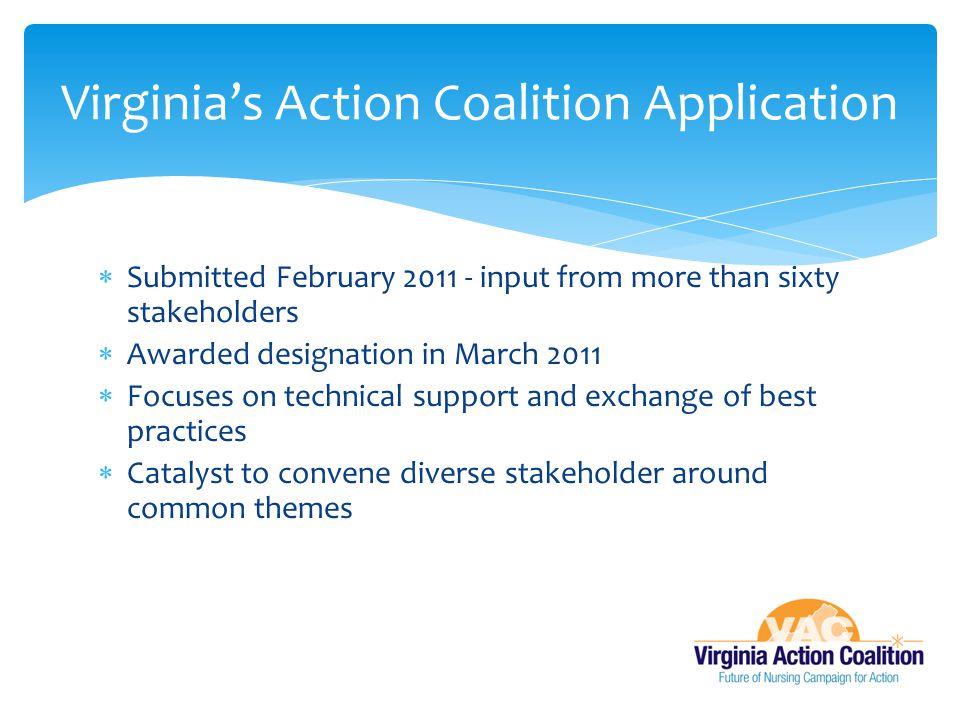 Virginia's Action Coalition Application