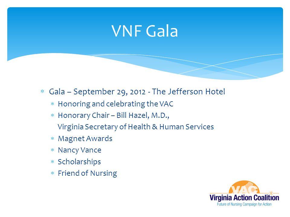 VNF Gala Gala – September 29, 2012 - The Jefferson Hotel